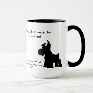 Schnauzer for President Mug