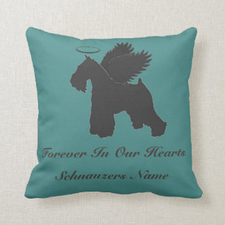 Schnauzer Forever in our Hearts Pillow