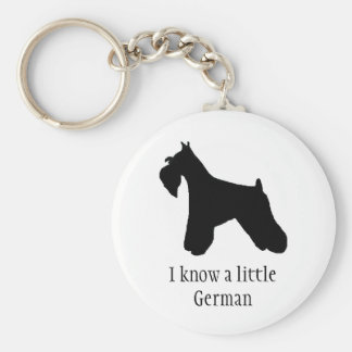 Schnauzer German Keychain