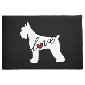 Schnauzer (Giant Schnauzer) Love Doormat