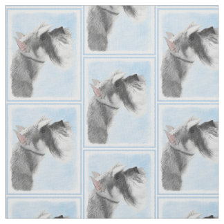 Schnauzer (Giant, Standard) 2 Painting - Dog Art Fabric