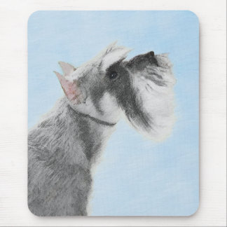Schnauzer (Giant, Standard) 2 Painting - Dog Art Mouse Pad