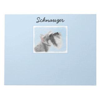 Schnauzer (Giant, Standard) 2 Painting - Dog Art Notepad