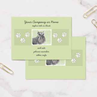 Schnauzer (Giant, Standard) Painting - Dog Art Business Card
