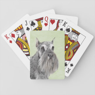 Schnauzer (Giant, Standard) Painting - Dog Art Playing Cards