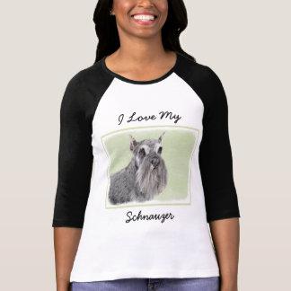 Schnauzer (Giant, Standard) Painting - Dog Art T-Shirt