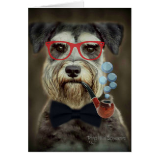 Schnauzer Greeting Card All Occassions