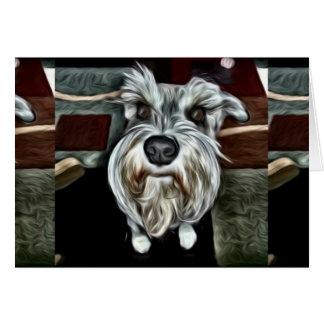 Schnauzer Greeting Card for any occasion