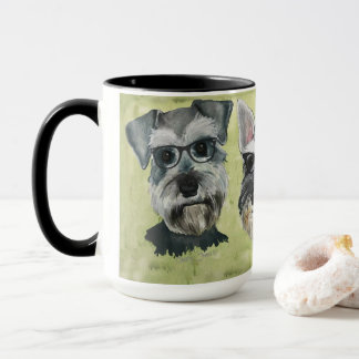 Schnauzer Groovy Glasses Coffee Mug