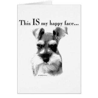 Schnauzer Happy Face Card