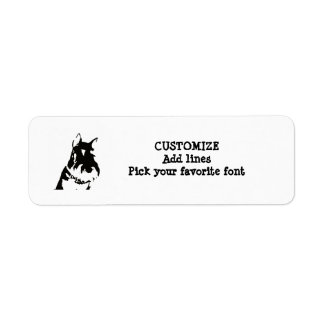 Schnauzer label return address label