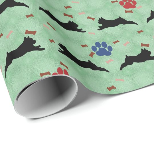 Schnauzer Leaping Wrapping Paper
