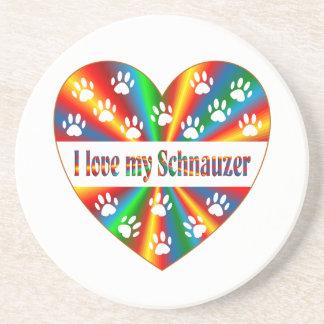 Schnauzer Love Beverage Coaster