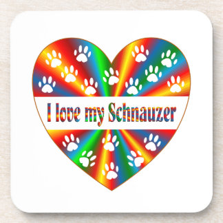 Schnauzer Love Beverage Coasters