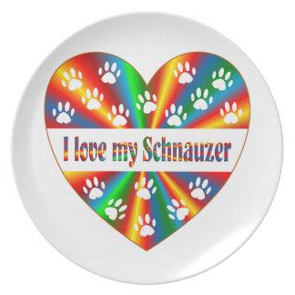 Schnauzer Love Plate