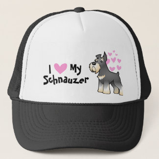 Schnauzer Love Trucker Hat