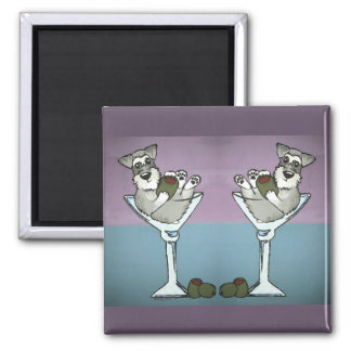 Schnauzer Martini Double the Trouble Magnet