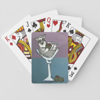 Schnauzer Martini Playing Cards
