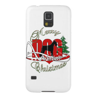 Schnauzer MERRY CHRISTMAS Cases For Galaxy S5
