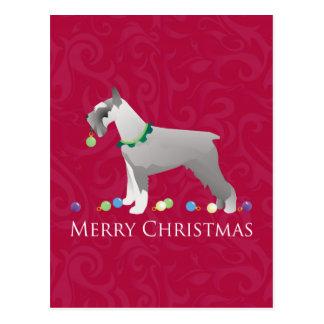Schnauzer Merry Christmas Design Postcard