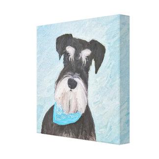 Schnauzer (Miniature) Painting - Cute Original Dog Canvas Print