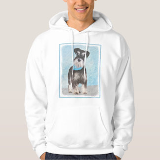Schnauzer (Miniature) Painting - Cute Original Dog Hoodie