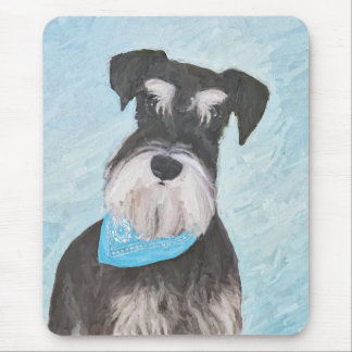 Schnauzer (Miniature) Painting - Cute Original Dog Mouse Pad