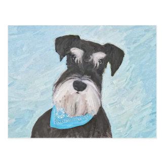 Schnauzer (Miniature) Painting - Cute Original Dog Postcard