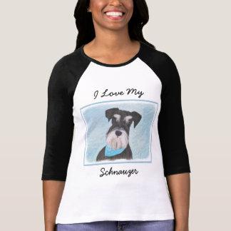 Schnauzer (Miniature) Painting - Cute Original Dog T-Shirt