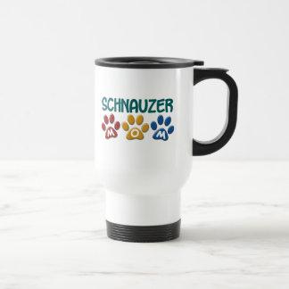 SCHNAUZER Mom Paw Print 1 Stainless Steel Travel Mug