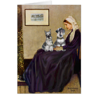 Schnauzer Pair 3 - Whistlers Mother Card