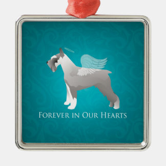 Schnauzer Pet Memorial Design Metal Ornament