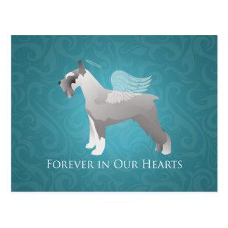 Schnauzer Pet Memorial Design Postcard