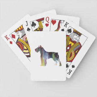 Schnauzer Poker Deck