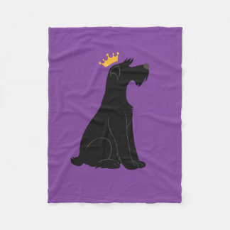 Schnauzer Prince Fleece Blanket