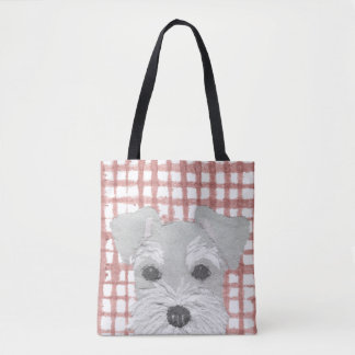 Schnauzer, Salt and Pepper, Modern Tote Bag