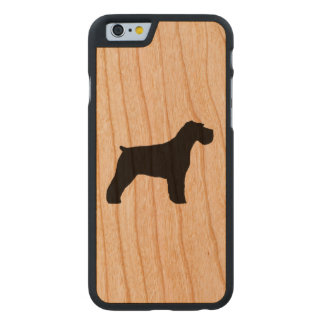 Schnauzer Silhouette Carved Cherry iPhone 6 Case