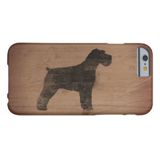 Schnauzer Silhouette Rustic Barely There iPhone 6 Case