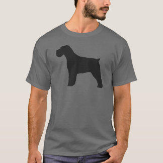 Schnauzer Silhouette with Natural Ears T-Shirt