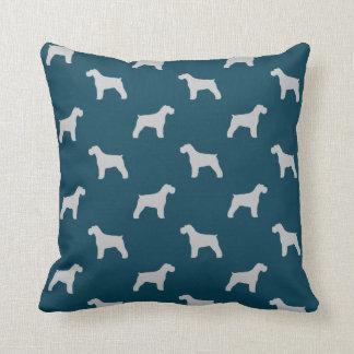 Schnauzer Silhouettes Pattern Throw Pillow