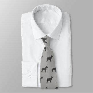 Schnauzer Silhouettes Pattern Tie