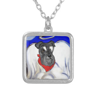 Schnauzer Silver Plated Necklace