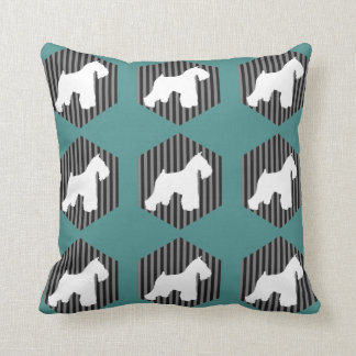 Schnauzer Stripes Pillow