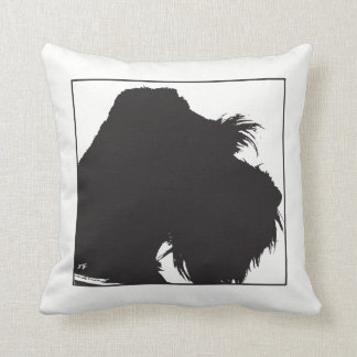 Schnauzer Throw Pillow