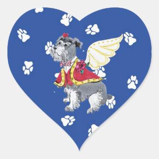 Schnauzer Valentine Stickers