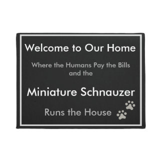 Schnauzer Welcome Doormat
