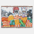 Schnauzers And Snoozes Throw Blanket