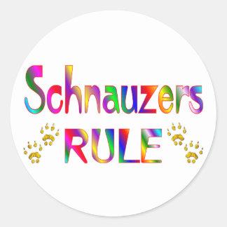 Schnauzers Rule Classic Round Sticker