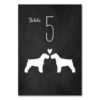 Schnauzers Wedding Table Card