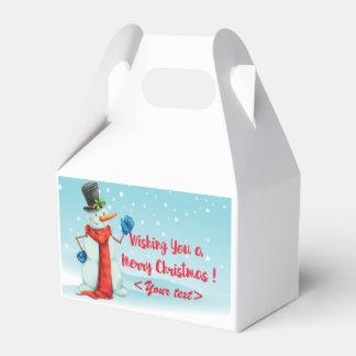Schneemann, gift packing, personalisierbar favor box